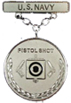 Navy Pistol Shot Excellence in Competition Badge (Silver)